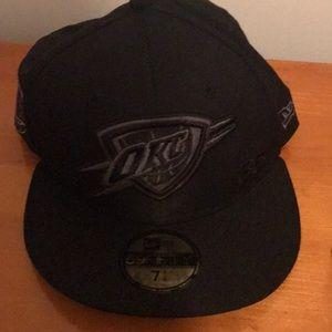 OKC all black cap